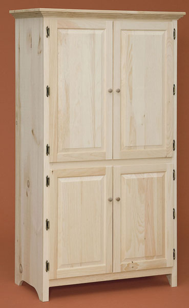 Pine Xl Pantry Cabinet The Wood Shed