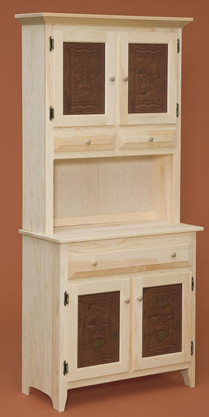 Pine Hutch With Tin The Wood Shed