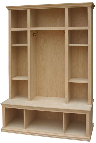 Locker Bench Available In Pine Maple Amp Oak The Wood Shed
