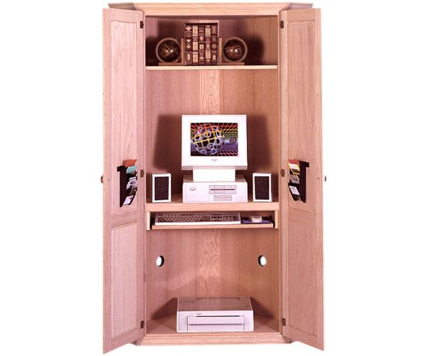 low priced da4f3 41c5e Traditional Corner Computer Cabinet, Available in Pine ...